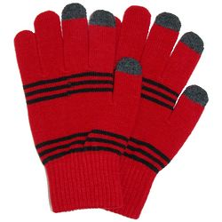 Women's Knit Fashion Text Gloves