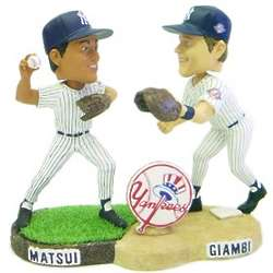Yankees Matsui and Giambi Forever Collectibles Bobble Mates