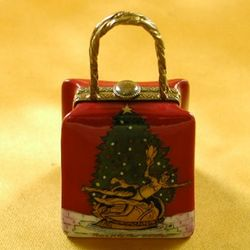 Christmas Shopping Bag Limoges Box