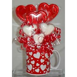 Valentine Hearts Mini Lollipop Bouquet