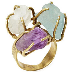 Energy Circle Stones Ring