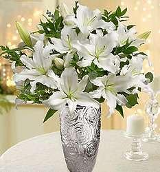 Sympathy White Lily Bouquet