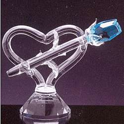 Single Crystal Rose and Heart