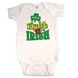 Kiss Me I'm Irish Personalized Infant Creeper