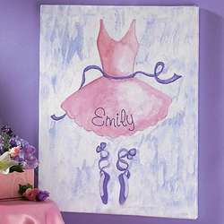 Personalized Unframed Ballet Canvas