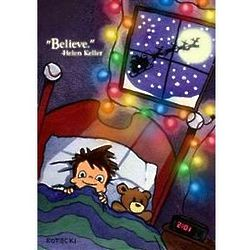 Believe Art Print with Santa