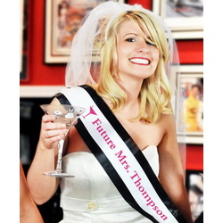 Personalized Bachelorette Sash & Veil Set
