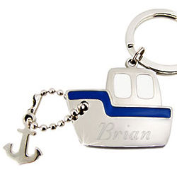 Personalized Steamboat Key Chain