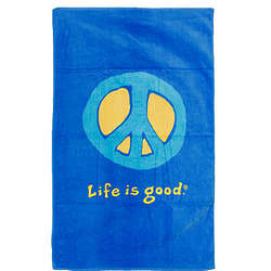 Life Is Good Peace Bath Towel