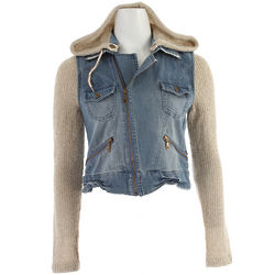 Rev Up Jacket in Denim and Oatmeal