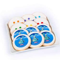 12 Eat 'n' Park Christmas Tree Star and Smiley Sugar Cookies