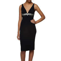 Roberto Cavalli V-Neck Black Dress