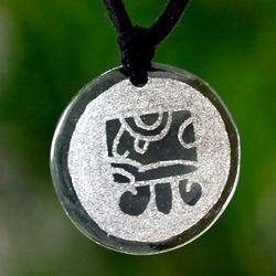 Tz'ikin Maya Love Jade Pendant Necklace