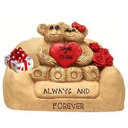 Valentine Bear Couple on Personalized Loveseat