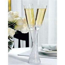 Personalized Wedding Toasting Flutes in Vase