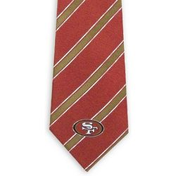 San Francisco 49ers Red and Gold Striped Tie