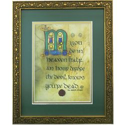 Irish Monastic May You Be in Heaven Framed Print