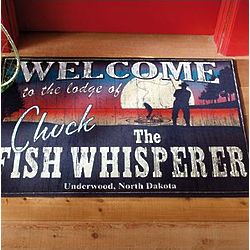 Personalized Fish Whisperer Doormat