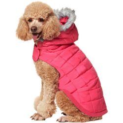 Dog's Pink Puffer Coat