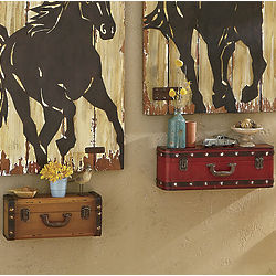 Vintage Suitcase Wall Shelves