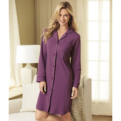 Women's Full-Botton Front Nightshirt