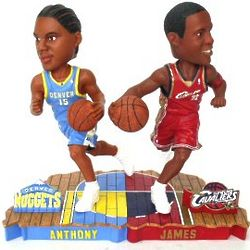 LeBron James and Carmello Anthony Collectibles Bobble Mates