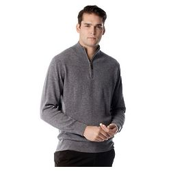 Men's Half Zip Pure Cashmere Sweater