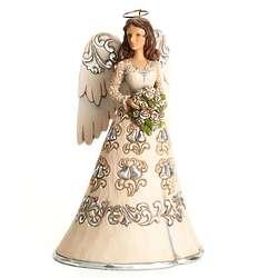 Jim Shore 25th Wedding Anniversary Angel Statue