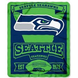 Seattle Seahawks 50x60 Marque Design Fleece Blanket
