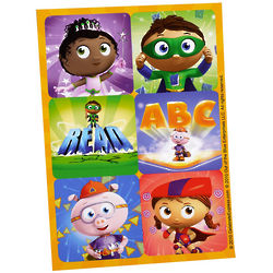 Super Why! Sticker Sheet