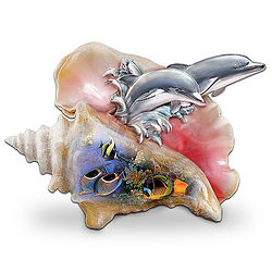 Waves of Paradise Ocean Art Dolphin Figurine