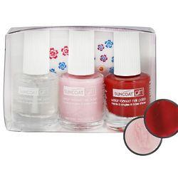 Natural Nail Polish Kit with Nail Decals