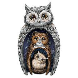 Owl Family Nesting Trio Figurine Set