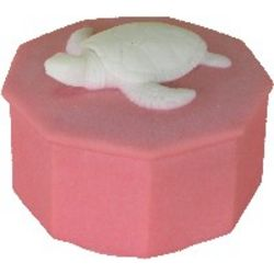 Loggerhead Turtle Trinket or Ring Box in Caribbean Coral