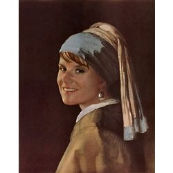 Custom Photo Girl with Pearl Earring Masterpiece Print