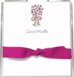 Bouquet in Pink Personalized Memo Set