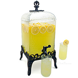 Paris Hammered Glass Beverage Dispenser