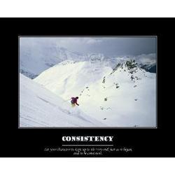 Consistency Inspirational Premium Luster Print
