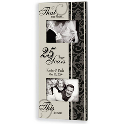 Personalized Then and Now Anniversary Frame