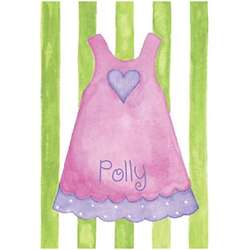 Personalized Dress Canvas Print