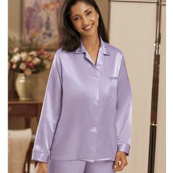 Brushed Back Satin Pajamas