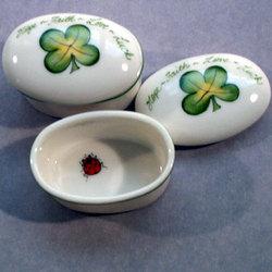 Four Leaf Clover Porcelain Box