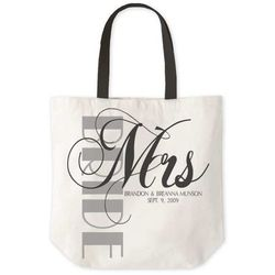 Personalized Newlywed Tote Bag