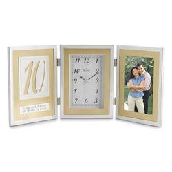 10th Anniversary Book Clock
