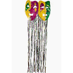 Mardi Gras Mask Fringe Curtain