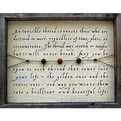 Invisible Thread Framed Wall Art