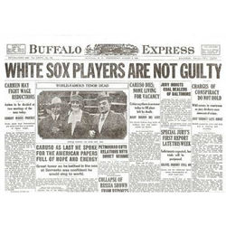 White Sox Acquitted Historical Newspaper