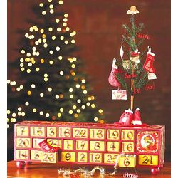 Vintage Advent Box with Tree