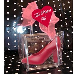 Gourmet Chocolate Red Mini High Heel in Clear Purse