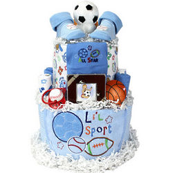 Play Ball Two Tier Sports Diaper Cake